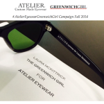 GG Global Partnership: International Atelier Eyewear + GG Fall 2014 Campaign Launches!