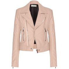 2016 Balenciaga Pink Leather Biker Jacket