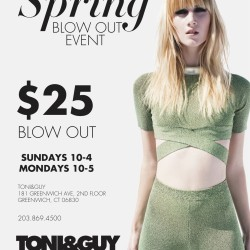Toni & Guy of Greenwich Announces Spring Blow-Out Event