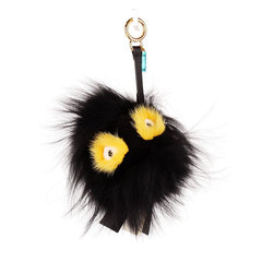 Black with Yellow Keychain Charm