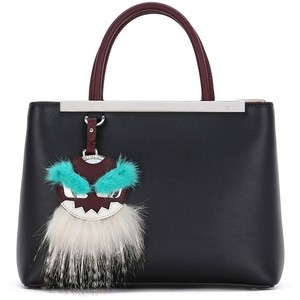 Fendi Black Petite/Mini 2Jours Bag - Monster Charm