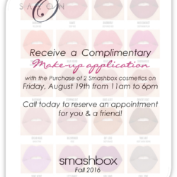 Salon O – Complimentary Make-Up Application Friday Aug. 19th