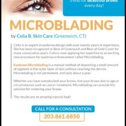 Hello thick brows, goodbye thin brows! Get Dreamy Brows With Microblading at Celia B. Skincare!