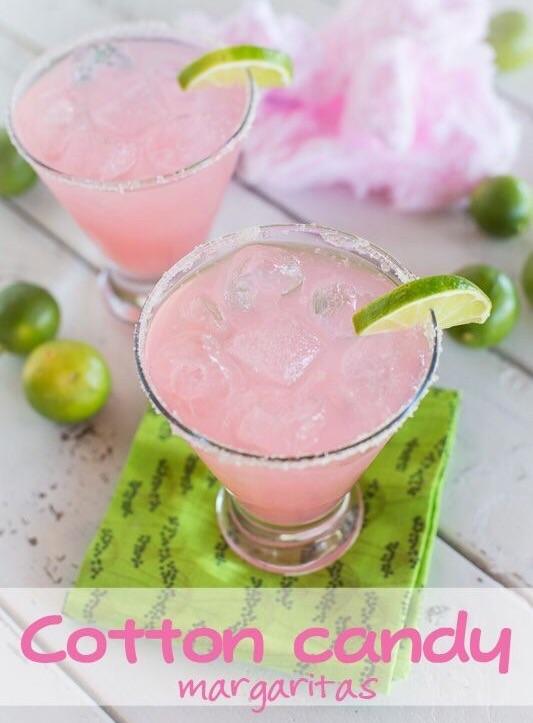 Cotton Candy Margaritas