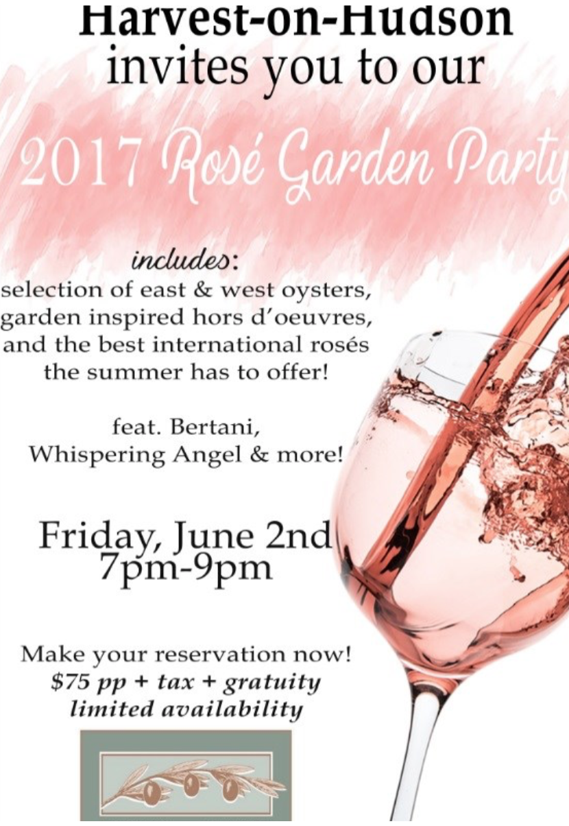 Harvest on Hudson 2017 Rosé Garden Party