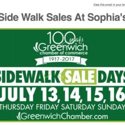 Side Walk Sales At Sophia's