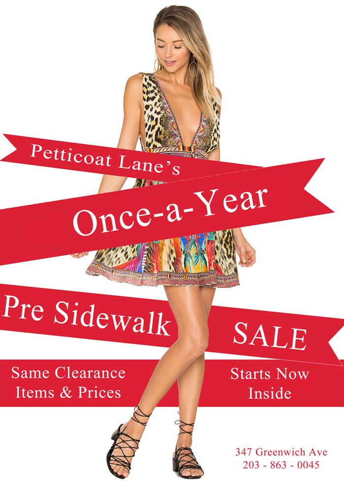 Petticoat Lane Pre Greenwich Sidewalk Sale TODAY!!!