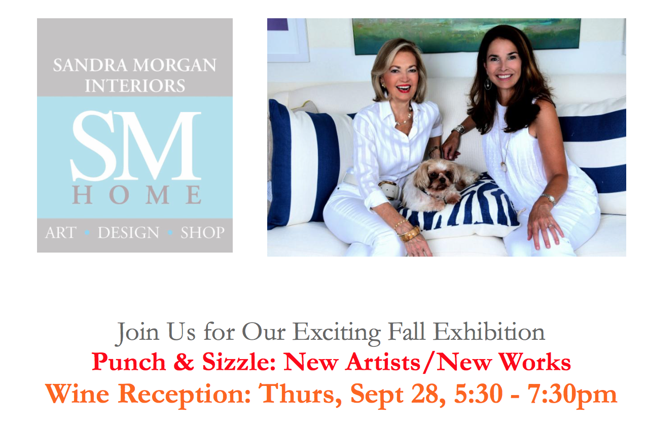Wine Reception with Sandra Morgan Interiors: Thurs, Sept 28, 5:30 – 7:30