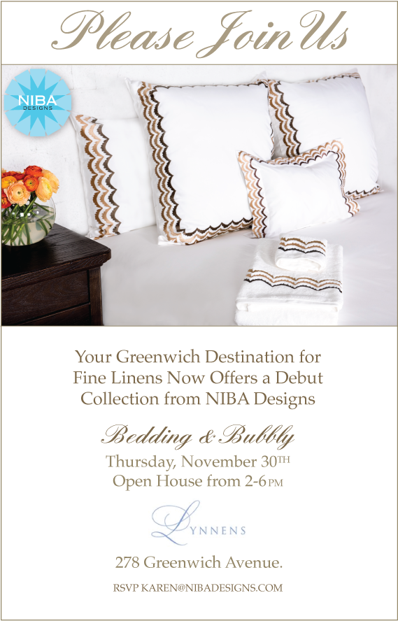 Bedding and Bubbly at Lynnens in Greenwich