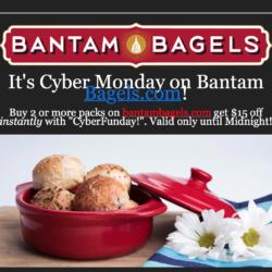Buy 2 or More Get $15 Off Instantly on BantamBagels.com